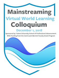 Register for the Mainstreaming Virtual World Learning Colloquium